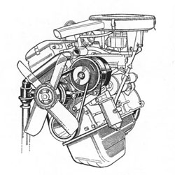 Фотография, схема двигателя BMW M10, Объем 1.5, 1.8, 2.0 литра