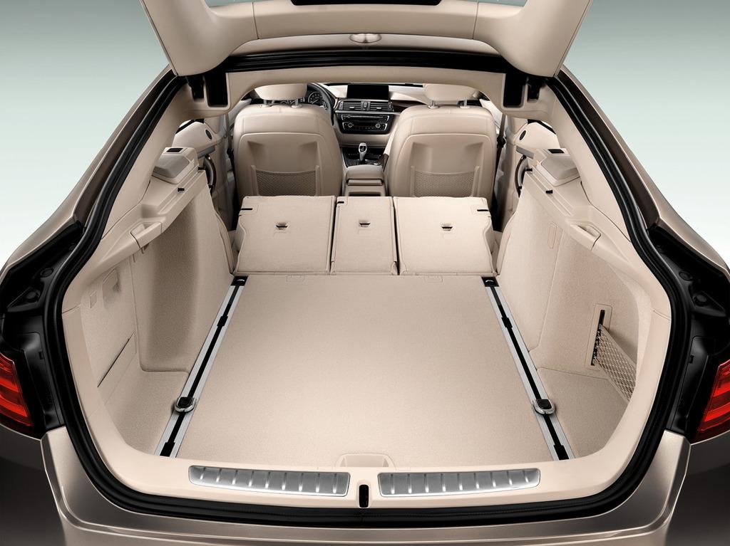 Фотографии салона, вместимости багажника BMW 3er Series Gran Turismo