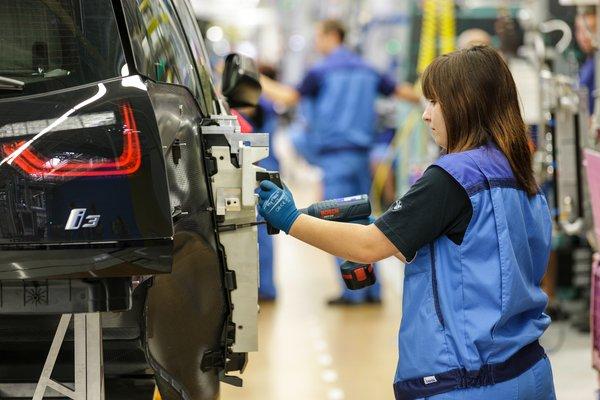 BMW i3 на заводе в Лейпциге