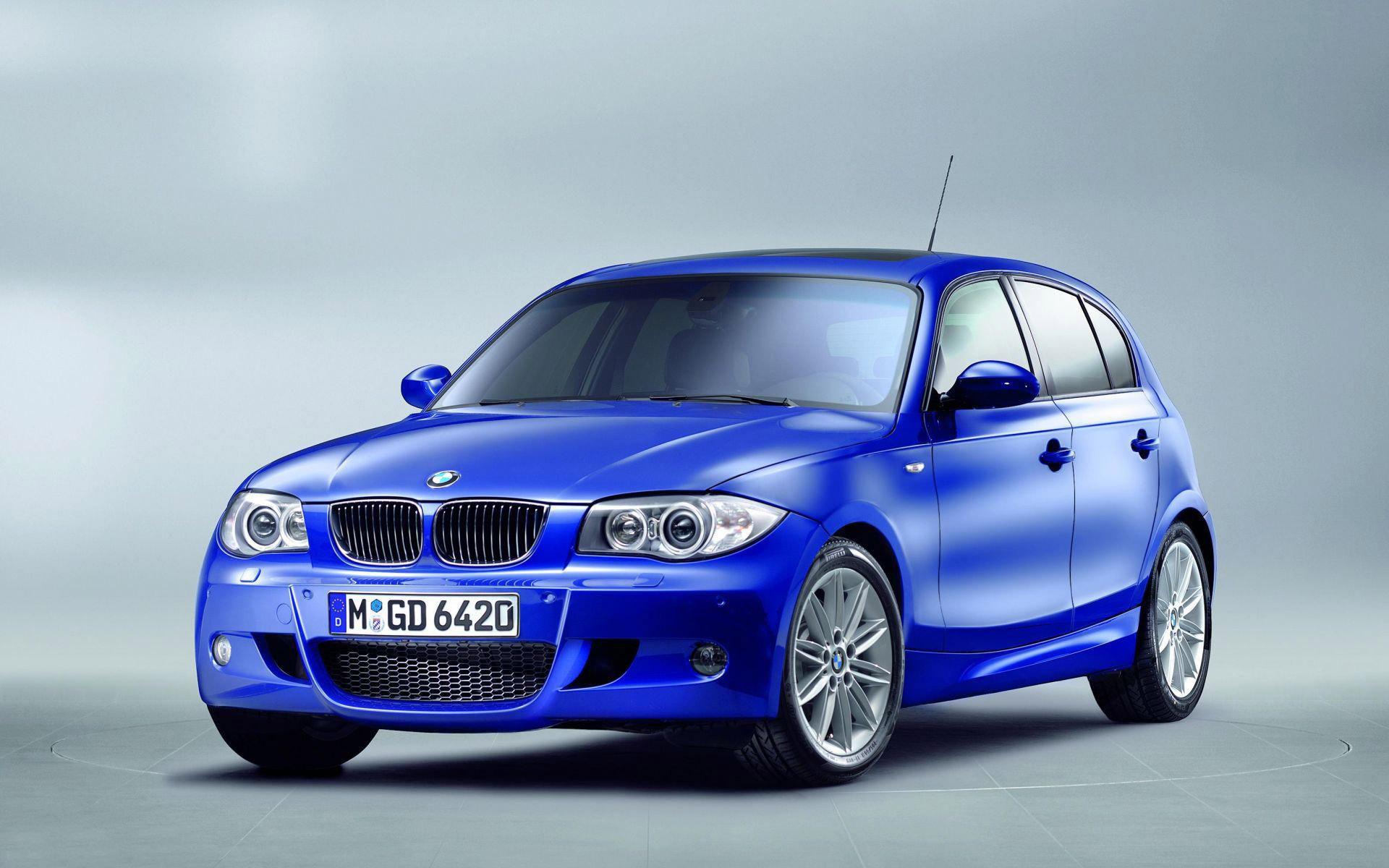1-я серия, 5 дверей, BMW E87 фотографии в М пакете, синяя