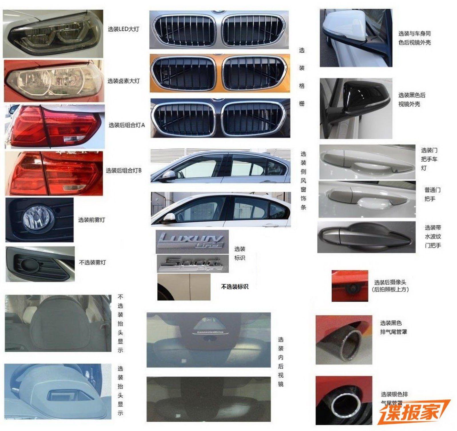 Детали седана BMW 1-й серии
