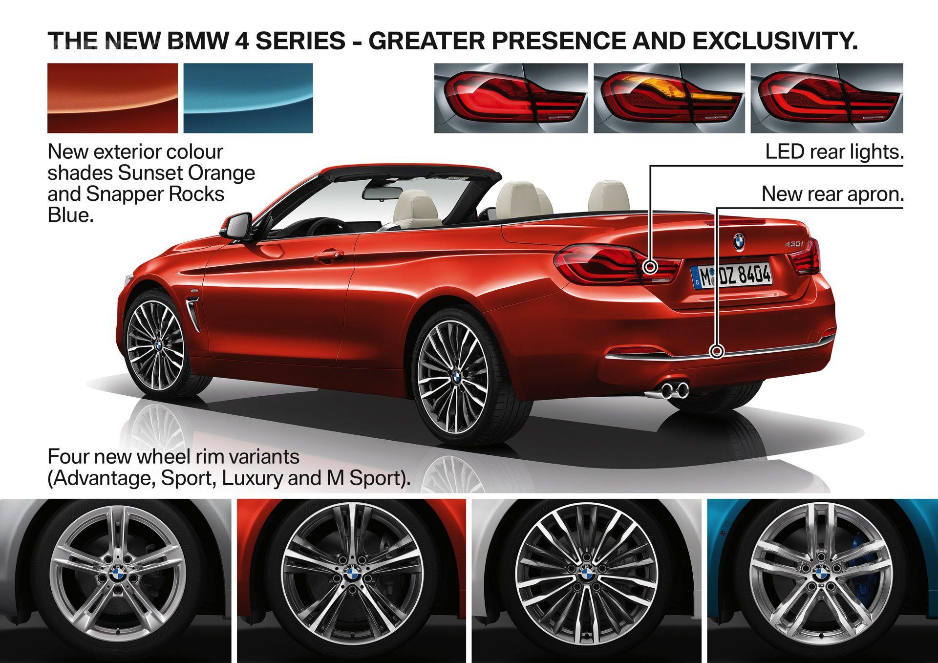 BMW 4-й серии рестайлинг LCI facelift