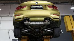 Тюнинговый выхлоп Armytrix с управляемым клапаном для BMW M3 или M4 в кузовах F80, F82